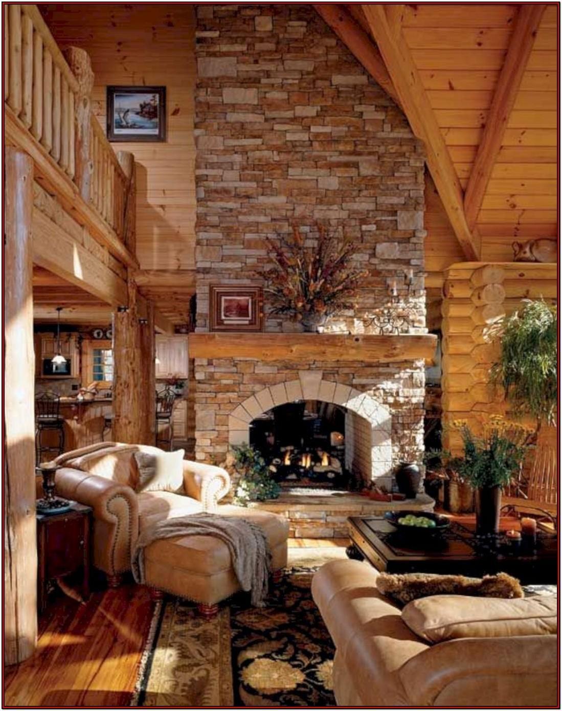 Log Cabin Living Room Decor