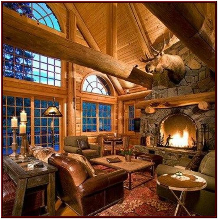 Log Cabin Living Room Decorating Ideas