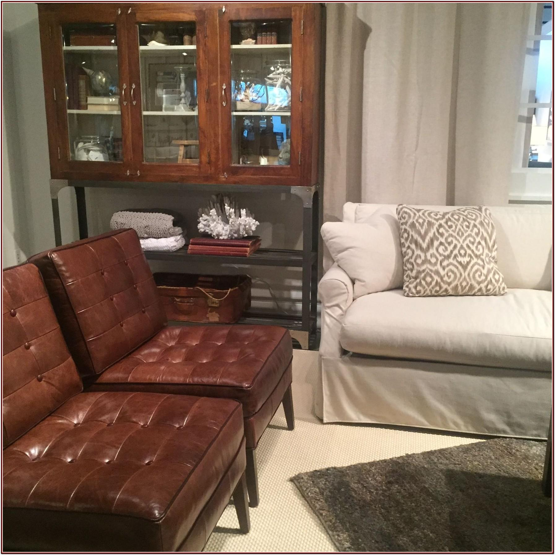 Mixing Leather And Fabric Living Room Furniture