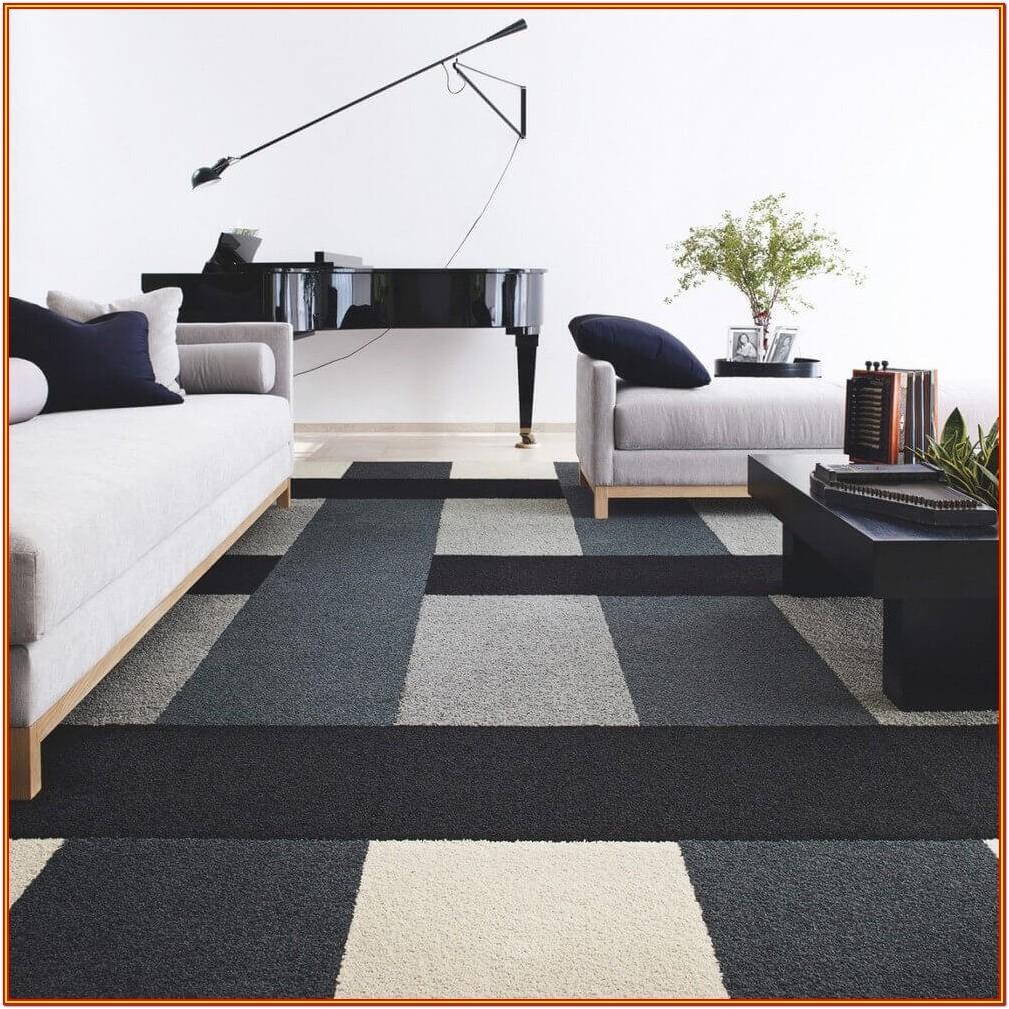 Modern Black Floor Tiles Living Room