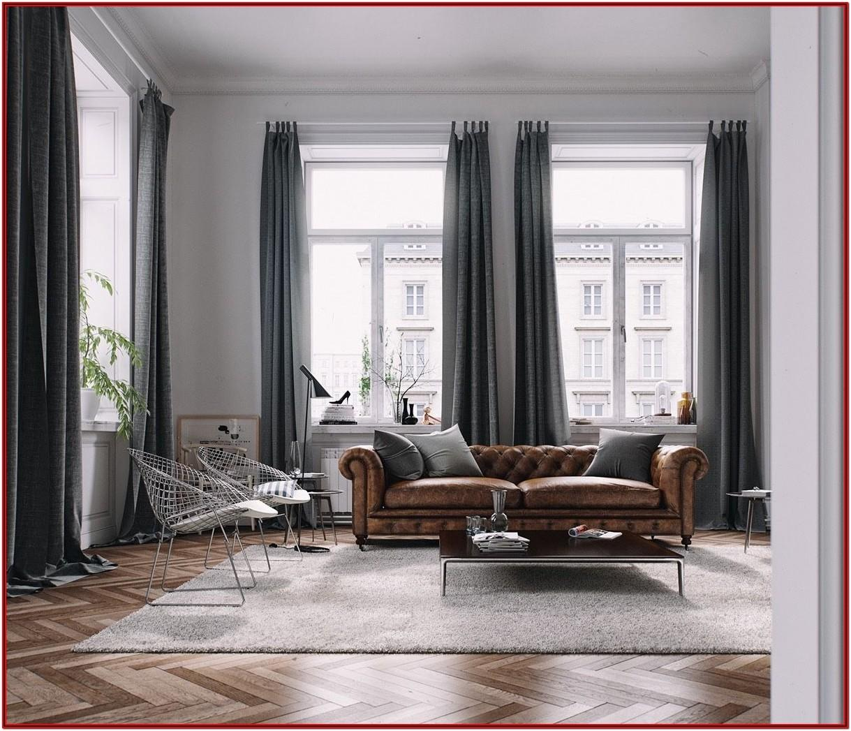 Modern Curtains For Living Room With Brown Furniture