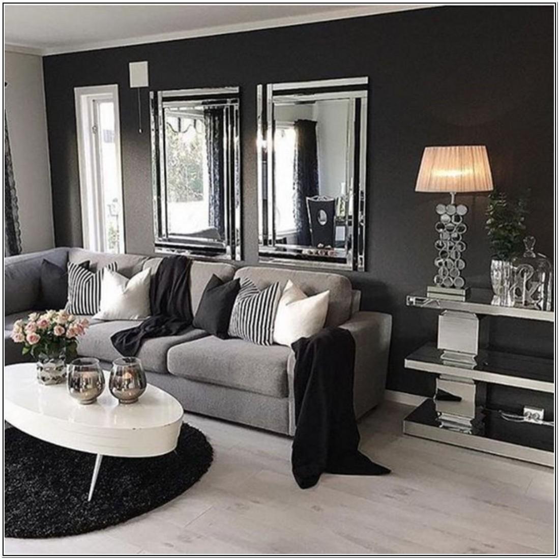 Modern Dark Grey Sofa Living Room Decor