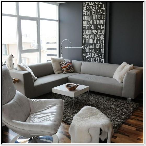Modern Dark Grey Sofa Living Room
