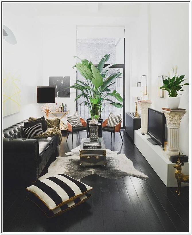 Modern Dark Wood Furniture Living Room Decorating Ideas