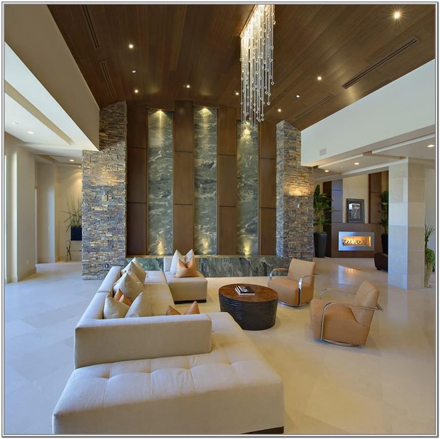 Modern High Ceiling Living Room Design Ideas