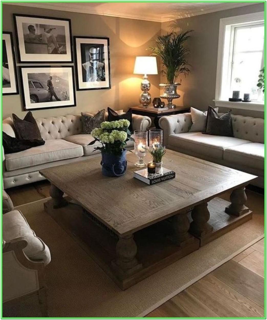 Modern Round Living Room Centerpiece Coffee Table Decor