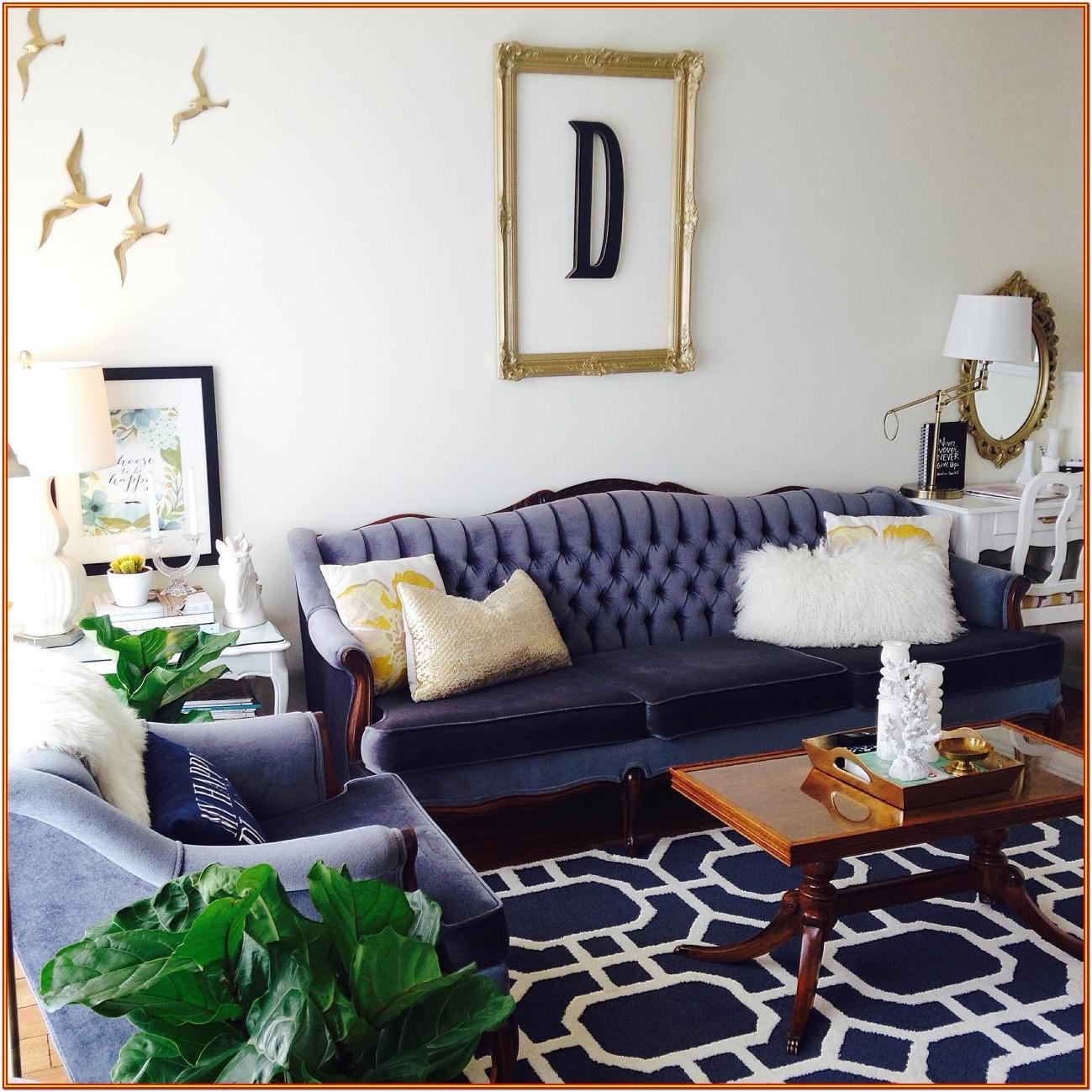 Navy Blue Furniture Living Room Ideas
