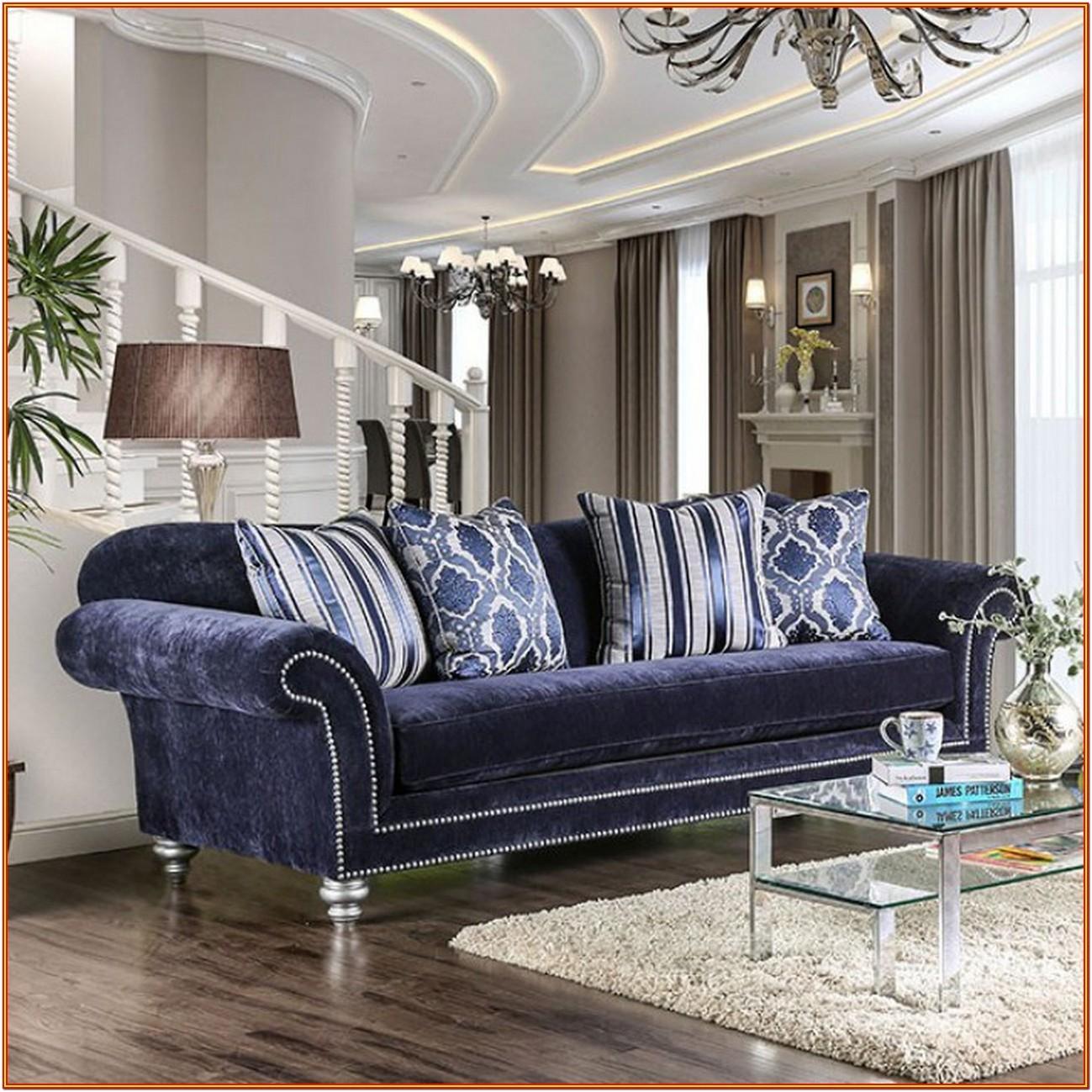 Navy Blue Living Room Furniture Sets
