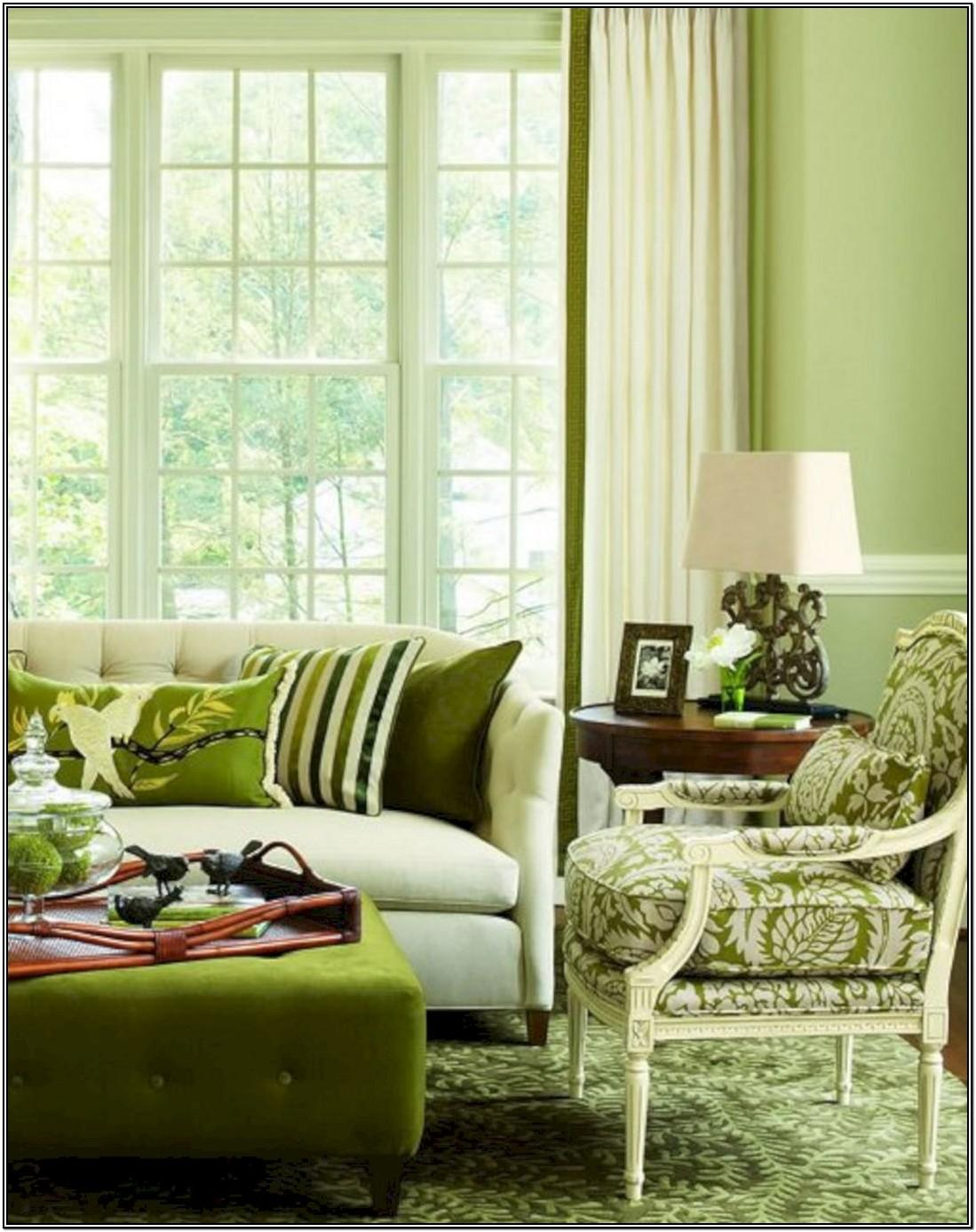Olive Green Couch Living Room