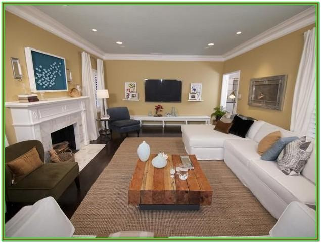 Rectangle Furniture Layout For Rectangular Living Room With Fireplace