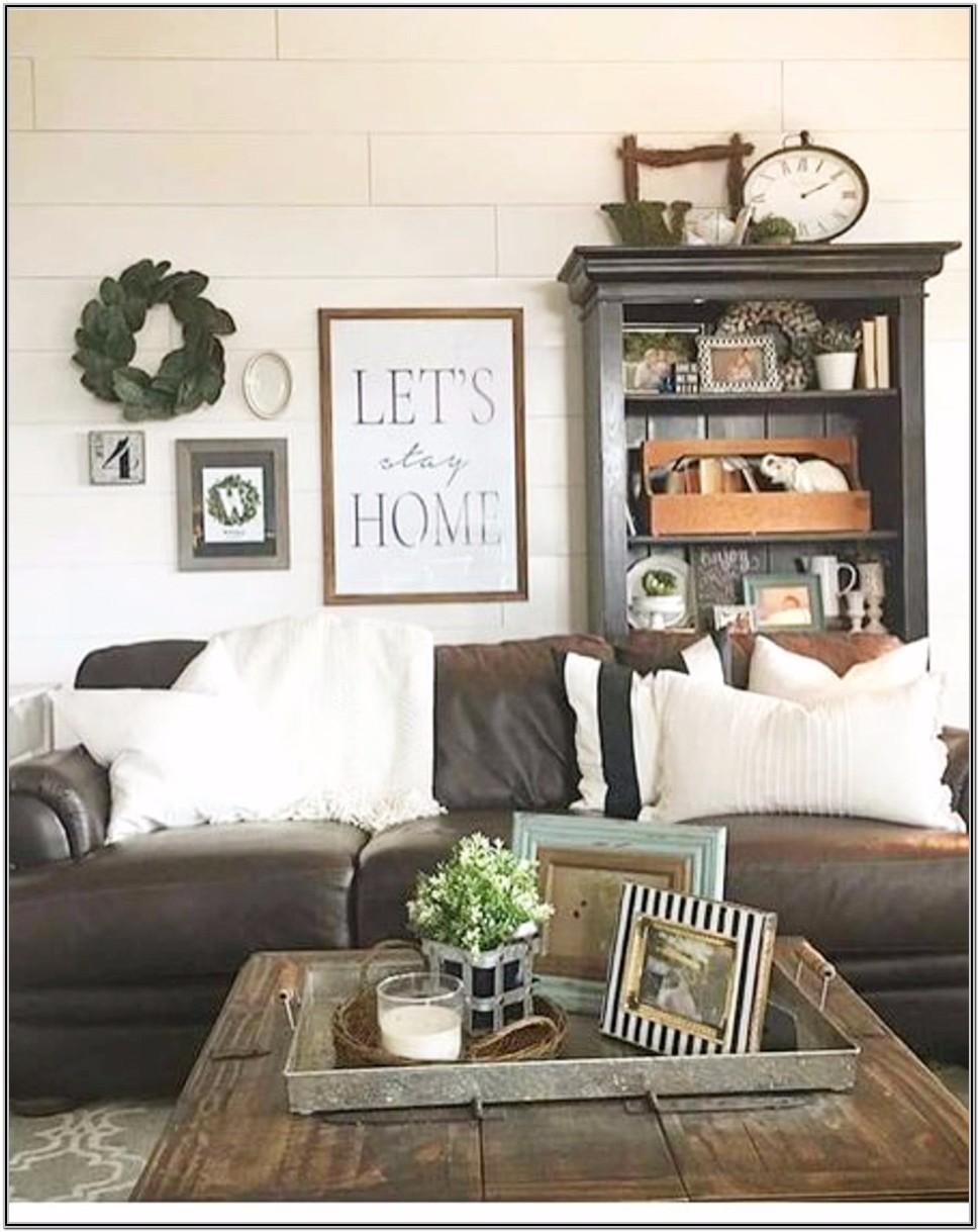 Rustic Farmhouse Living Room Wall Decor Ideas