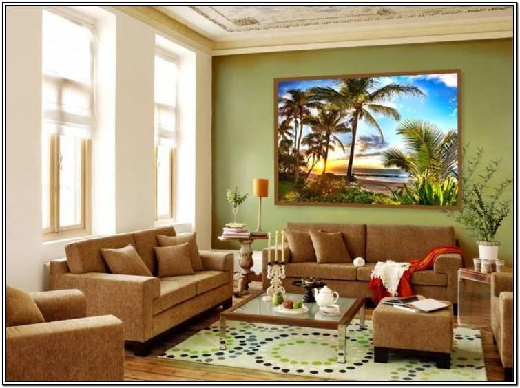 Sage Green Accent Wall Living Room