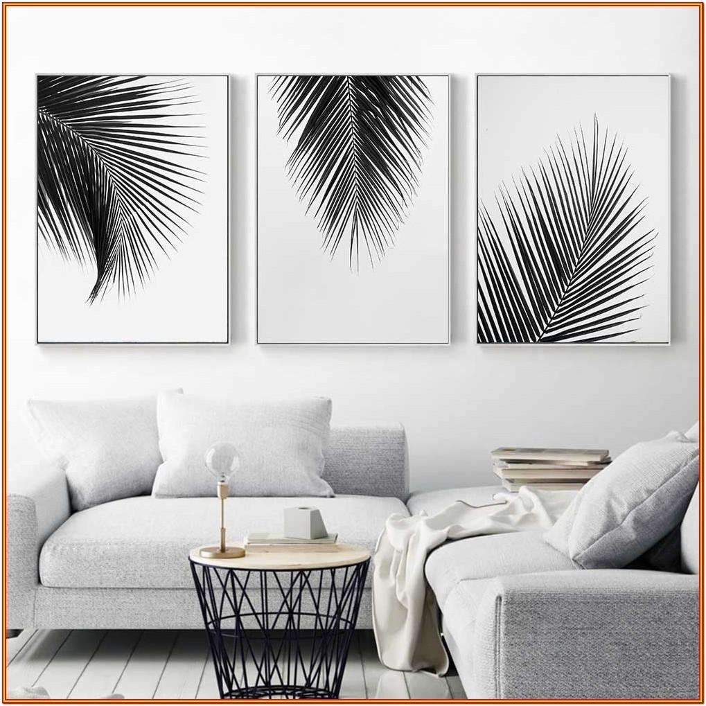 Wall Artwork Living Room Black And White Wall Painting