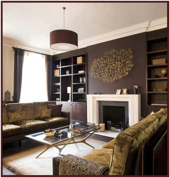 Wall Brown Color Living Room