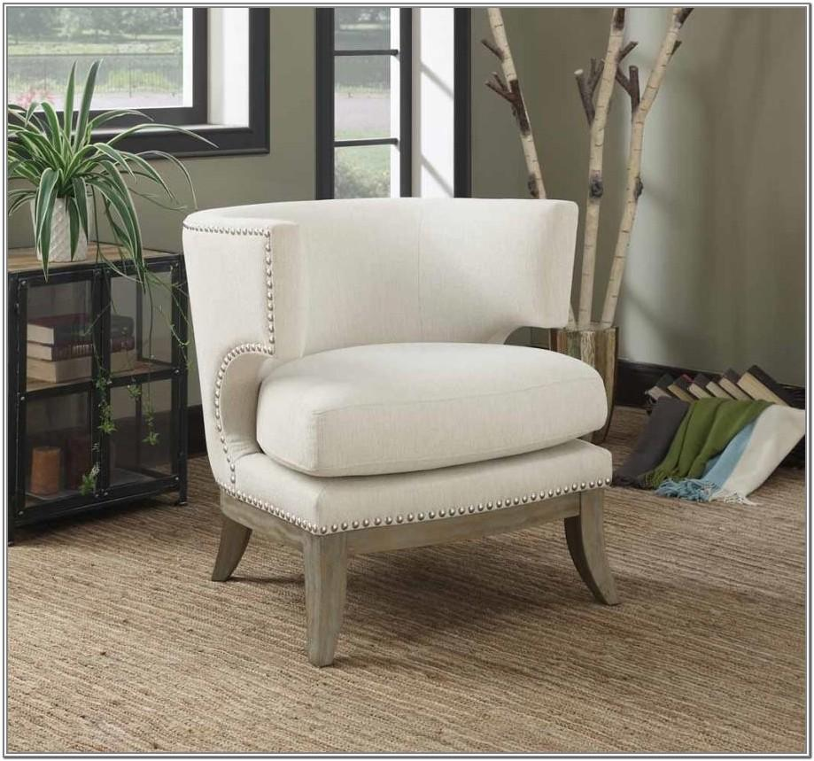 White Accent Chairs Living Room