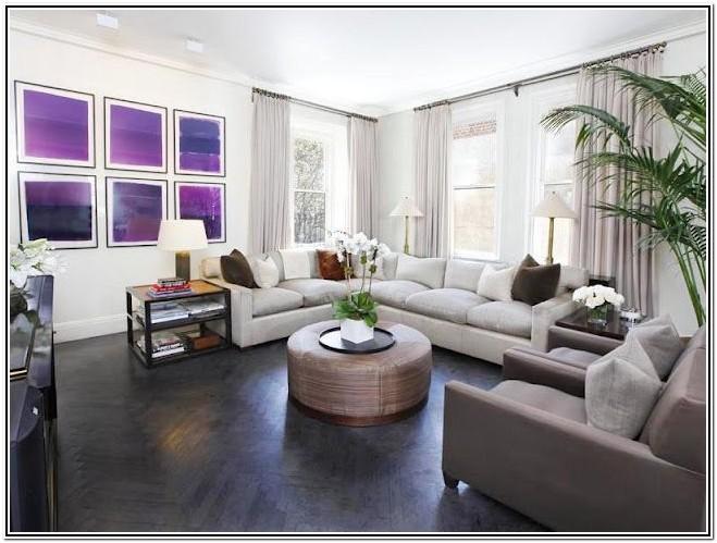 White And Dark Wood Living Room Furniture