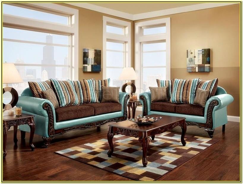White Fabric Living Room Furniture