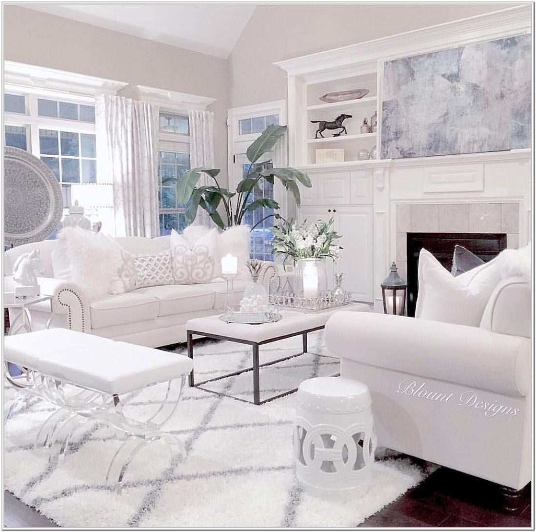 White Furniture Living Room Decorating Ideas