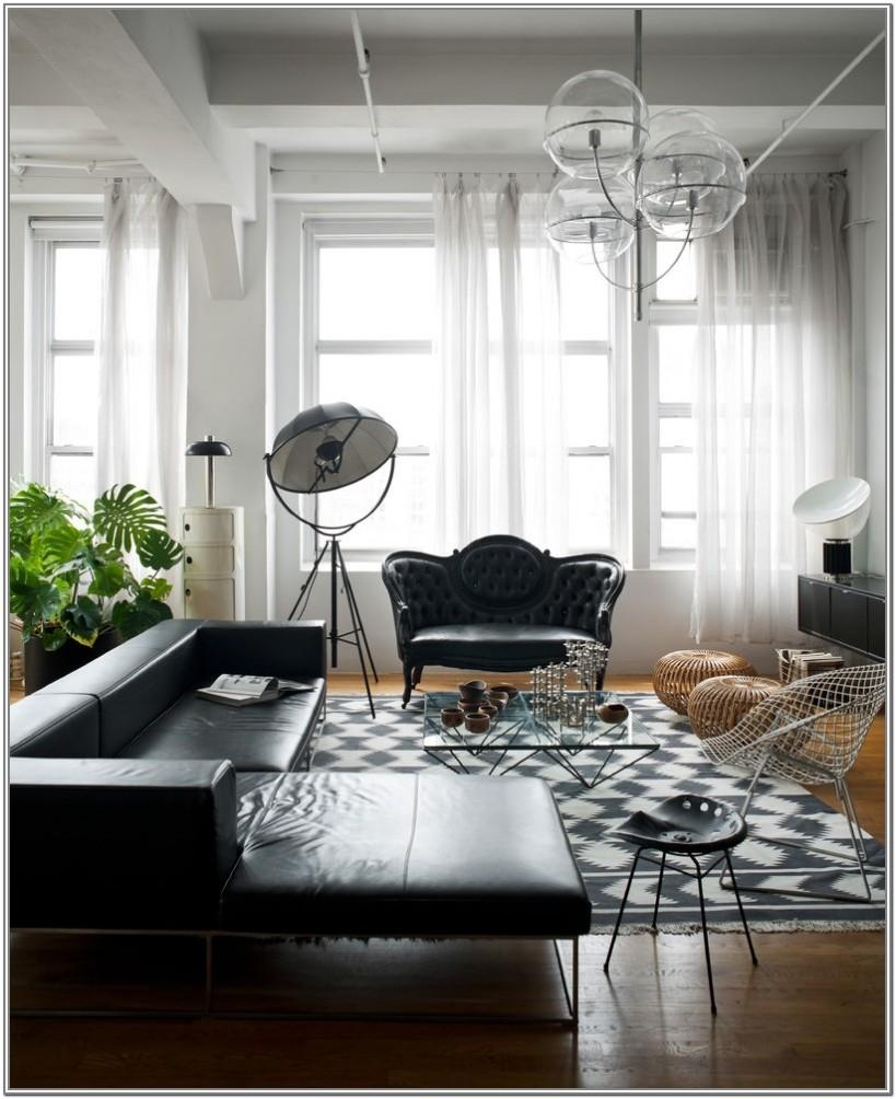 White Leather Chairs Living Room