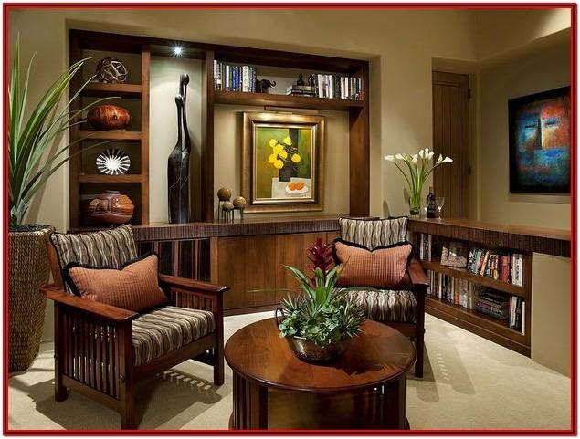 African Living Room Interior