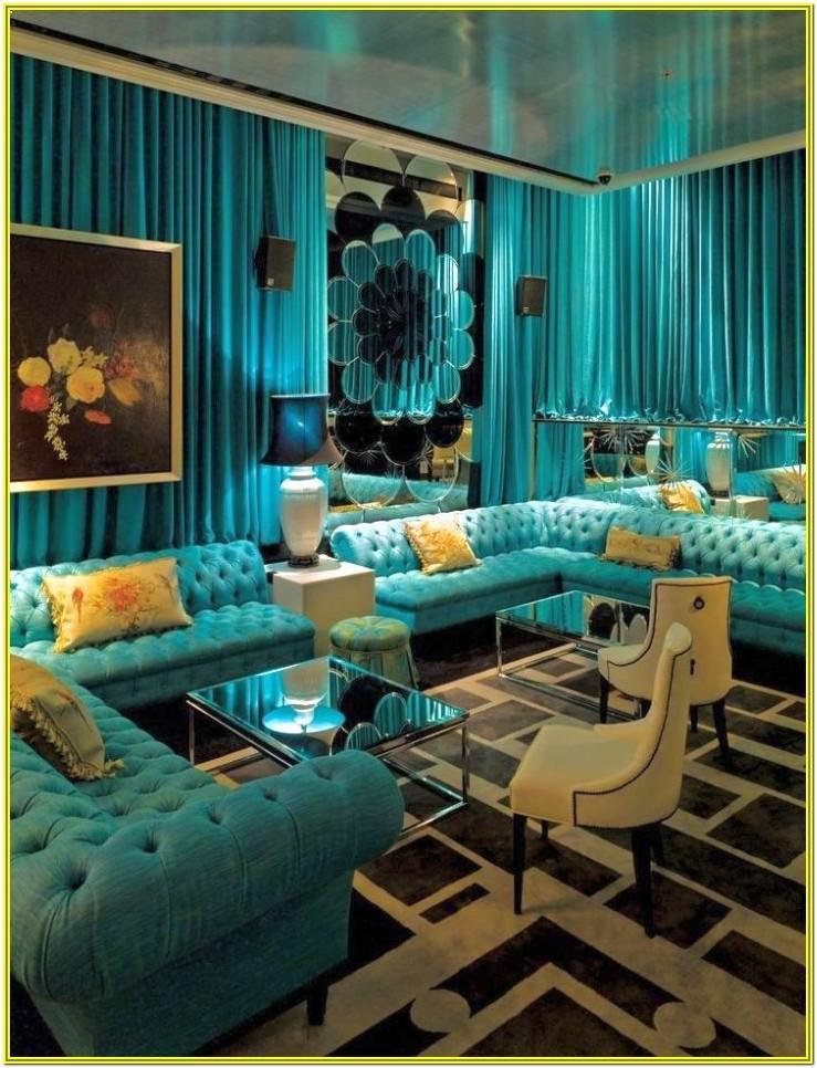 Aqua Color Living Room Ideas