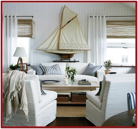 Beach Theme Living Room Designs