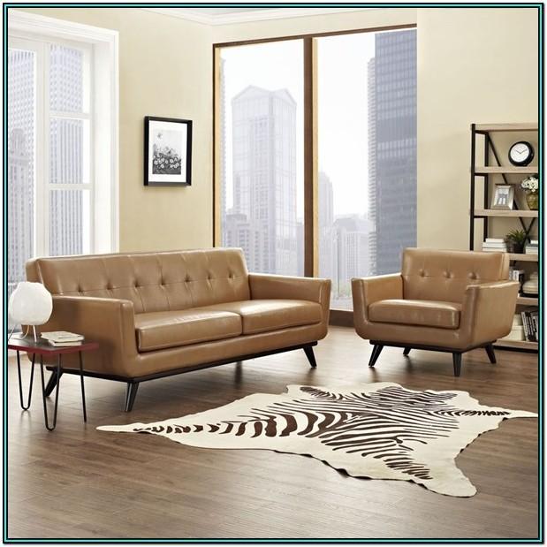 Beige Tufted Living Room Set