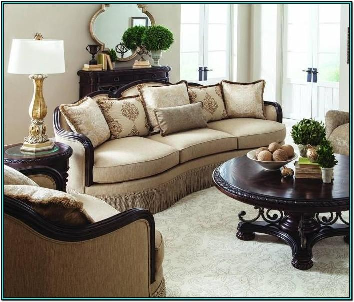 Beige Velvet Living Room Set