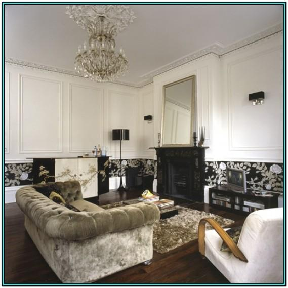 Black And Gold Wallpaper Living Room Ideas