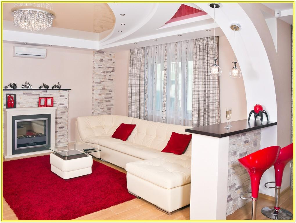Black Red And White Living Room Ideas