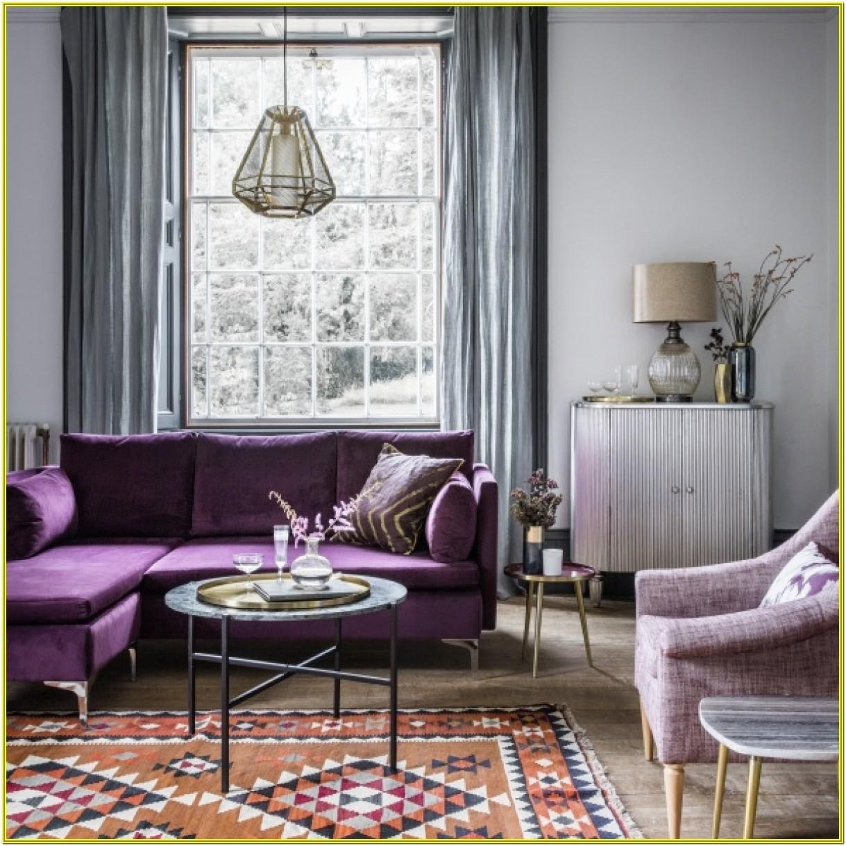 Black White And Purple Living Room Ideas
