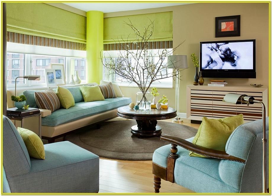 Blue Green Living Room Decorating Ideas