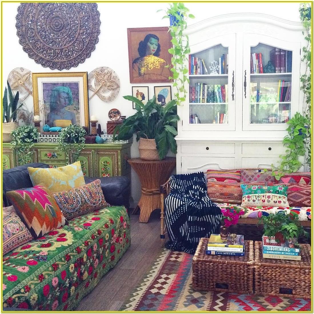 Bohemian Hippie Living Room Ideas