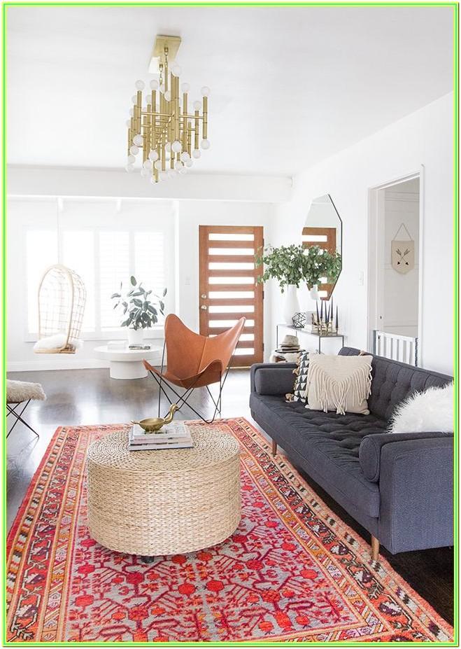 Boho Persian Rug Living Room