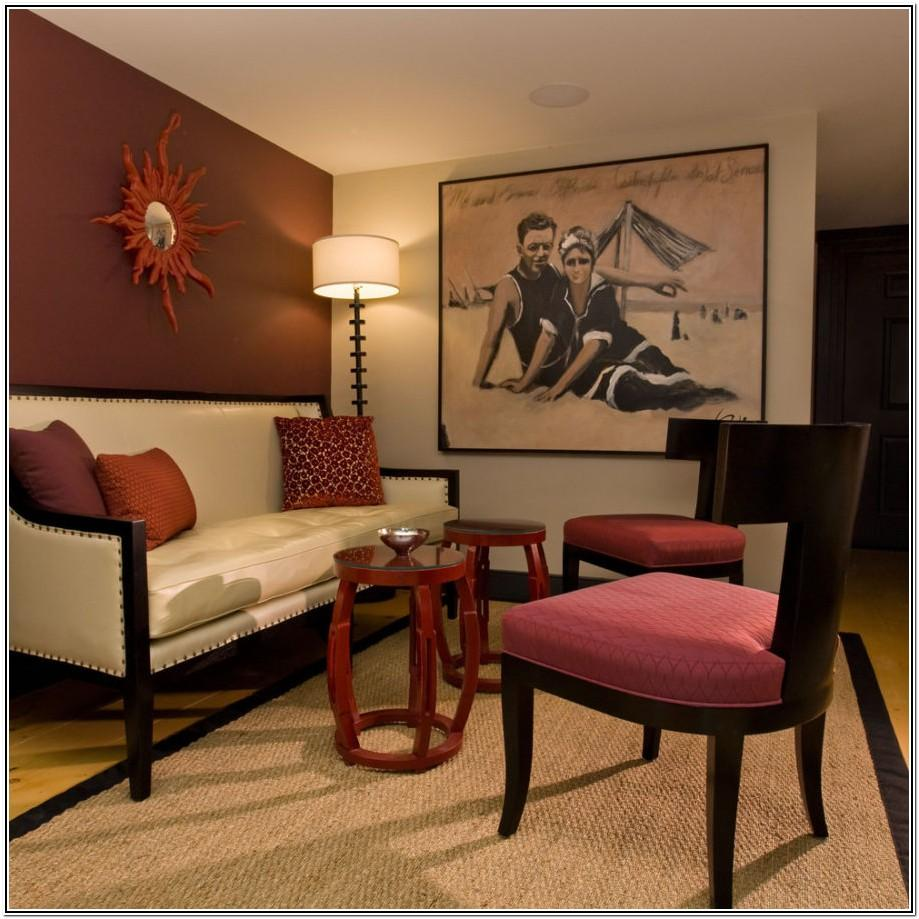 Brown And Maroon Living Room Ideas