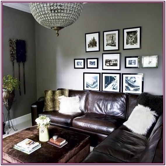 Brown Living Room Furniture With Gray Walls