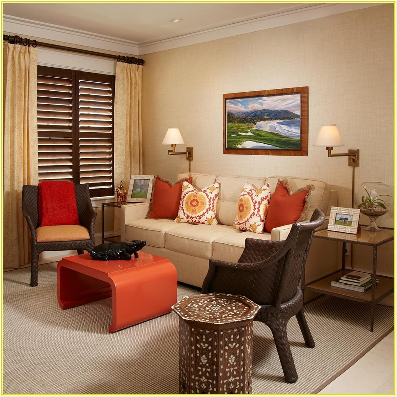 Burnt Orange Couch Living Room Ideas