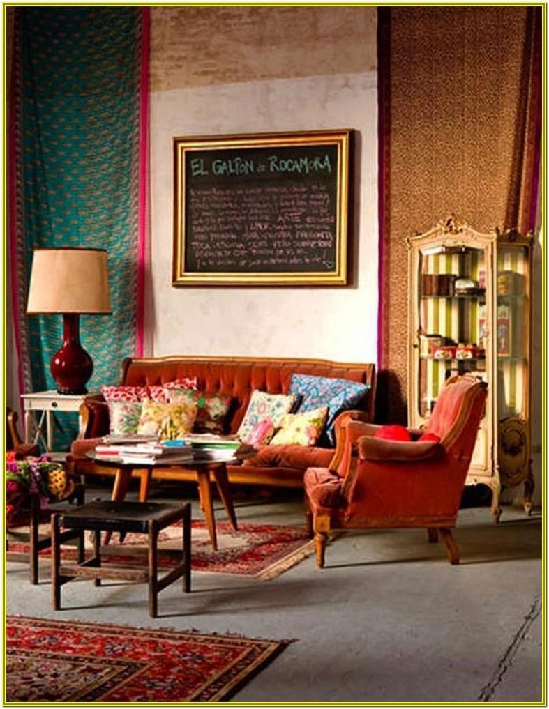 Colorful Boho Chic Living Room Ideas