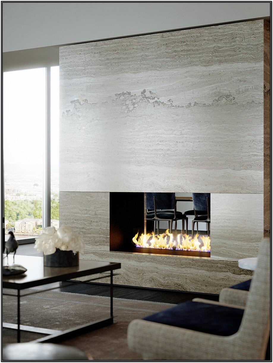 Contemporary Living Room Fireplace Wall Ideas