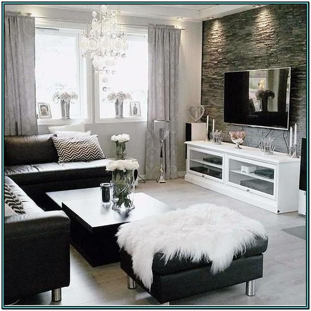 Dark Gray And White Living Room Ideas