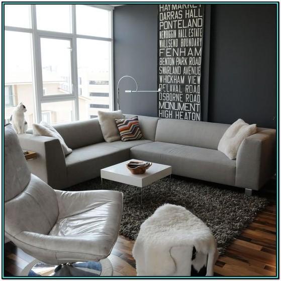 Dark Gray Grey Modern Living Room Ideas