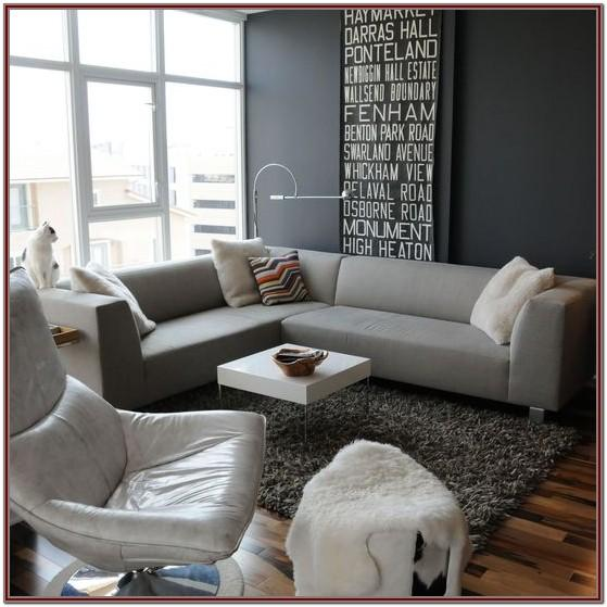 Dark Grey Modern Grey Sofa Living Room