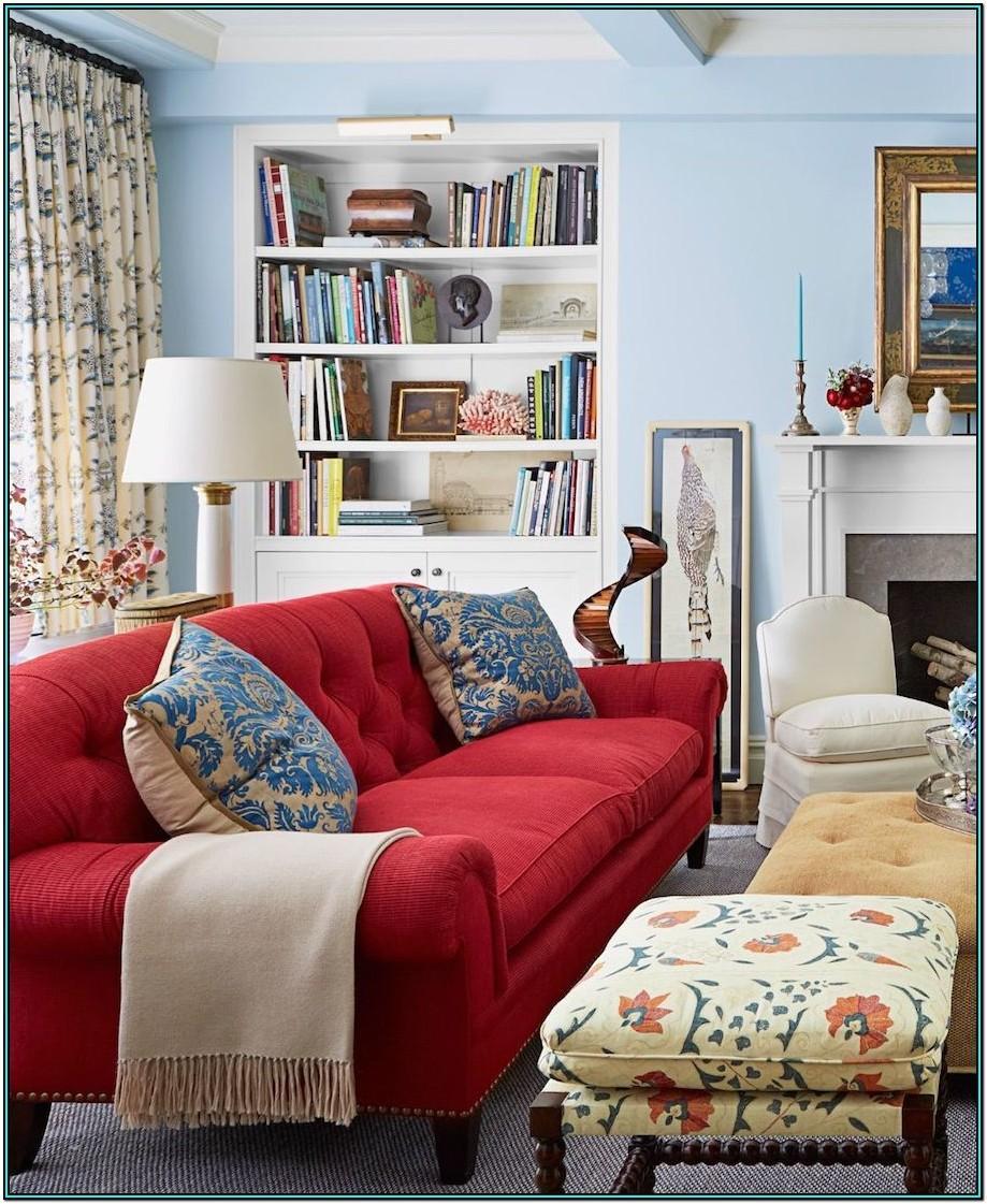 Dark Red Sofa Living Room Ideas