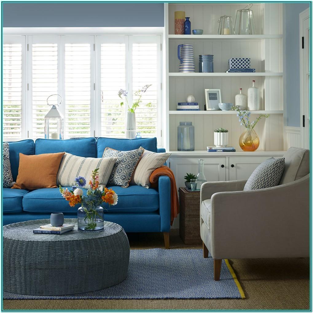 Decor Modern Blue Sofa Living Room