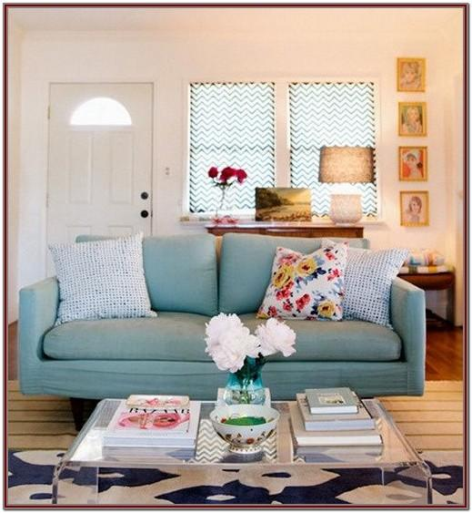 Decorating Ideas For Living Room With Blue Sofa