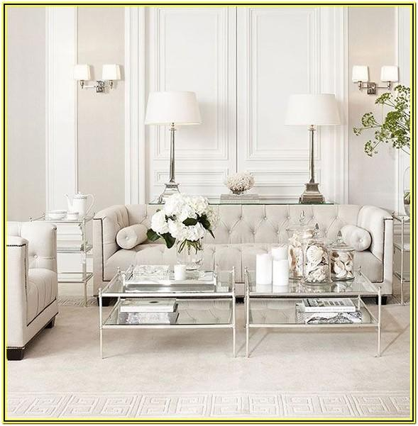 Elegant White And Silver Living Room Ideas