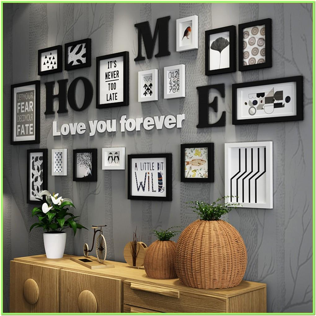 Family Living Room Photo Frames On Wall