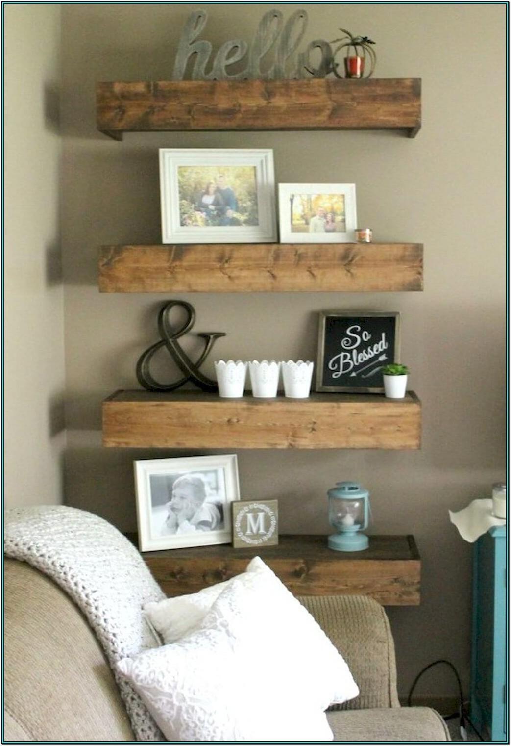 Farmhouse Living Room Shelf Decor Ideas