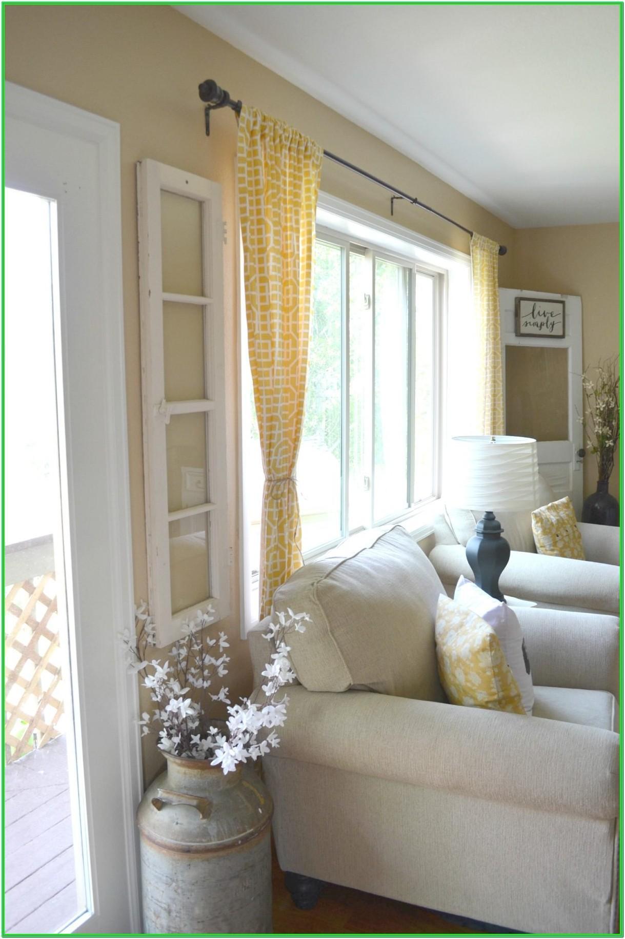 Farmhouse Living Room Window Decor