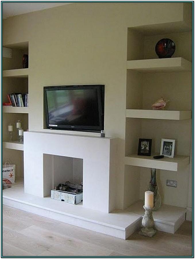 Floating Shelves Living Room Alcove Ideas